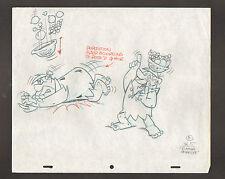 """Flintstones Animation Art - 8, Scene 5 - Fred + Barney in """"Rumba"""" Pebbles"""