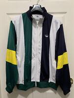Adidas Originals Bailer TT Track Jacket Sz L Large Retro Striped Graphic EJ7114