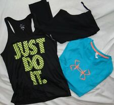 Womens Fitness Lot (3) UNDER ARMOUR & NIKE Pants, Tank & Shirt Sz M
