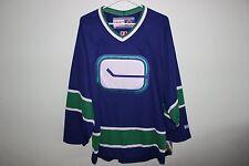 Vancouver Canucks NHL CCM Vintage Blue Jersey L NEW