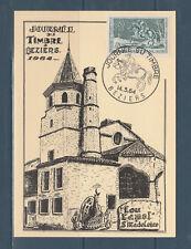 carte  1er jour  journée du timbre   34 Bézires  1964