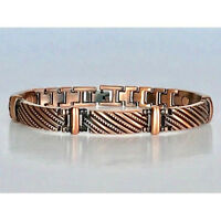 "ARTHRITIS 8.5"" COPPER MAGNETIC BRACELET UNIQUE DESIGN  MAGNET EVERY LINK MBC151"