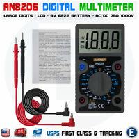 Digital Voltmeter Ammeter Ohmmeter Multimeter Volt AC DC Tester Black US Seller