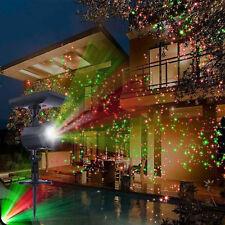 Waterproof Solar Powered Laser Light Lawn Garden Christmas Lamp Red Green LED