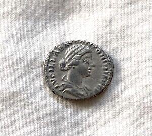 Roman Empire Silver Denarius Lucilla AR Denarius Silver Coin 164-166 AD XF