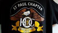 Harley Davidson T Shirt Mens Size XL Graphic HOG St Paul Minnesota USA Black