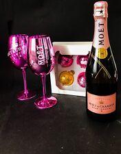 Moet Chandon Imperial Rose 0,75l 12% Vol + 2 Gläser + 4 Weihnachtskugeln