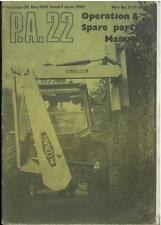 McCONNEL PA22 HEDGETRIMMER & HEDGECUTTER OPERATORS MANUAL & PARTS LIST