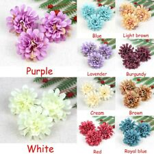 Bulk 20-100pcs 4cm Artificial Flower Silk Hydrangea Heads Carnation Fake Flowers