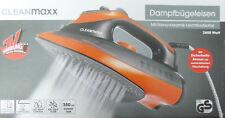 Cleanmaxx Dampfbügeleisen 2600 Watt Orange Mit Nano Keramik Leichtlaufsohle Neu