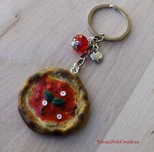 Portachiavi pizza marinara creata a mano napoli miniatura cibo pizzeria regalo