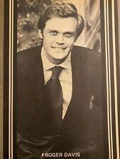 Dark Shadows, Roger Davis, Full Page Vintage Pinup