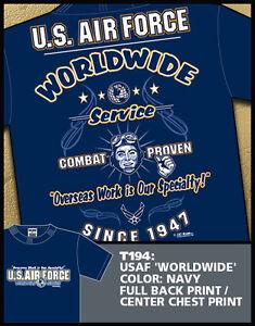"T-shirts USAF 7.62 Design T194 usaf ""Worldwide Service"""