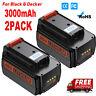 2PACK For Black & Decker LBXR36 40V MAX Lithium Ion Battery LBX2040 LHT2436 Tool
