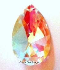 50mm AB Aurora Borealis Teardrop Asfour Crystal Prisms Feng Shui Wholesale CCI