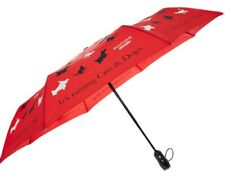Moschino Red Raining Cats & Dogs Automatic Umbrella, 99% UV Protection, RRP £55