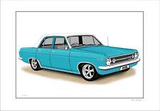1967 HOLDEN HR  SEDAN LIMITED EDITION CAR DRAWING PRINT  ( 6 CAR COLOURS)