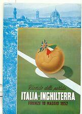Ricordo della partita ITALIA-INGHILTERRA 1952 di UGOLINI annullo speciale