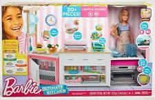 Barbie Quiero Ser Superchef Küche mit Zubehör und Puppe Inkl Knetmasse
