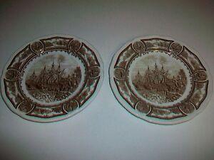 "Lot 2 Vintage AMERICANA STYLE HOUSE Ironstone J.&G. Meakin England Plates 7"""