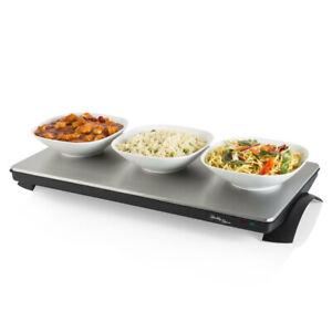 Healthy Choice 1000W Cordless Electric Warmer Food Warming Tray/Buffet Plate SLV