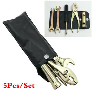5Pcs/Set Motorcycle Repair Tools Kit -Screwdriver -Spanner -Spark Plug Sleeve