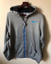 Nike Men's Therma-Fit Knockout Full Zip Hoodie Jacket Grey Large (L) 465786 NWOT