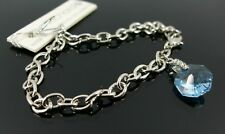 Jon Richard. Swarovski cristal azul pulsera con dijes de plata. precio del billete £ 15 (A3)