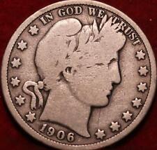 1906-D Denver Mint Silver Barber Half Dollar