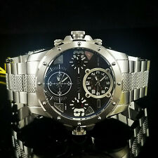 Invicta Coalition Forces Special Ops Quad Time Black 4 Dial Steel Watch 50mm New