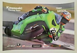 Vintage Poster 2004 Tommy Hayden Kawasaki Racing Team Ninja Supersport