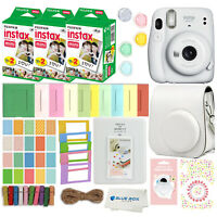 Fujifilm Instax Mini 11 Instant Camera 60 Fuji Films Accessory kit (Ice White)