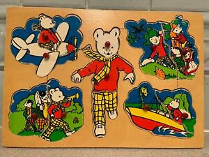 Vintage Rupert Bear  Wooden Puzzle