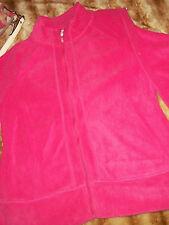 Everlast Medium  Pink Fleece Zip Ip Jacket Sz   LG