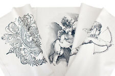 Twisted Textile Printed Fabric - Cherubs. Quilting cotton. Panel 50cm x 145cm