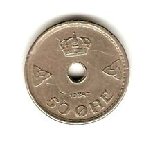 1947  NORWAY Coin 50 ORE