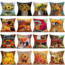 Festival Celebration Autumn Thanksgiving Farm Slipcover Pillowcase Cushion Cover