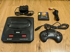 SEGA Mega Drive 2, 16 Bit Console + Power Supply + Gamepad + AV Cable + Game