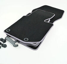 Tapis de sol BMW 3 E36 Touring Limo Premium Velours noir 8xDr. Contour gris