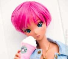 "8.5"" Custom Doll Wig for Smart Doll Bjd, Sd, Dollfie Dream dolls Pink Pixie"