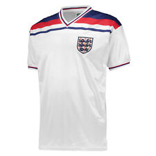 Score Draw Official Retro Football Mens England 1982 World Cup Finals Shirt White Large