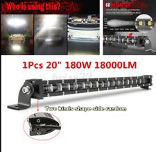 20'' 180W 6D Slim Single Row Spot Beam LED Work Light Bar Off-Road Waterproof