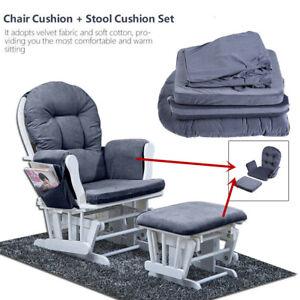Cotton Cushion Set For Baby Nursery Relax Rocker Rocking Chair Glider Ottoman