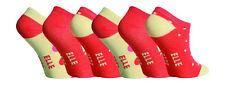 6 Pairs Girls Elle Trainer Socks, Pretty Oranges, size 9-12 Uk, 27-30 Eur