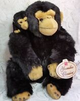 Russ Yokimo Classics Monkey Ape Chimp Plush Stuffed Animal Mom Baby Black 12""