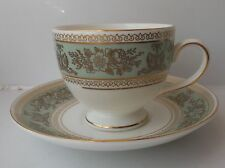 Wedgwood Columbia Sage Green Teacup and Saucer - Made in England
