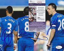 Frank Lampard John Terry Ashley Cole Signed 8x10 Photo w JSA COA #S30432 Chelsea
