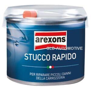 AREXONS STUCCO RAPIDO 200gr Riparare danni Carrozzeria Auto con induritore