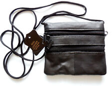 Small Black Leather Air Rifle pellets Holder or coin neck pouch wallet purse