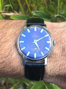 Vintage Waltham Wrist Watch - BLUE DIAL!